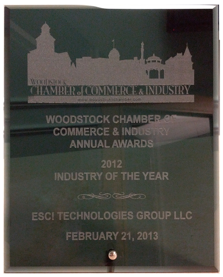 ESC! Technologies Group Awarded Woodstock Chamber of Commerce Industry of the Year